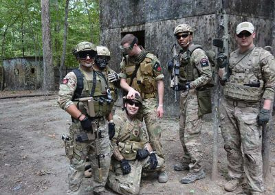 large scale team airsoft play