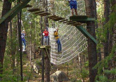 Canopy ropes course for kids